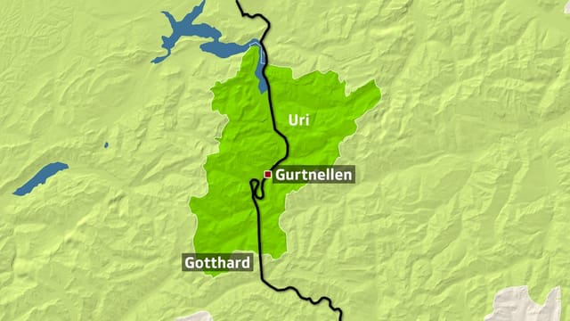Tranter Erstfeld e Göschenen era la lingia da viafier interrutta.