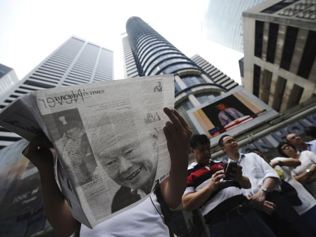 Trauer um den ehemaligen Premier in Singapur.