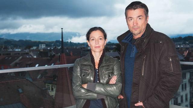 Delia Mayer als Kommissarin Liz Ritschard (links) und Stefan Gubser als Kommissar Reto Flückiger (rechts)
