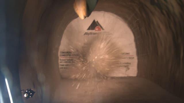Die Sprengung im Ceneri-Basistunnel.