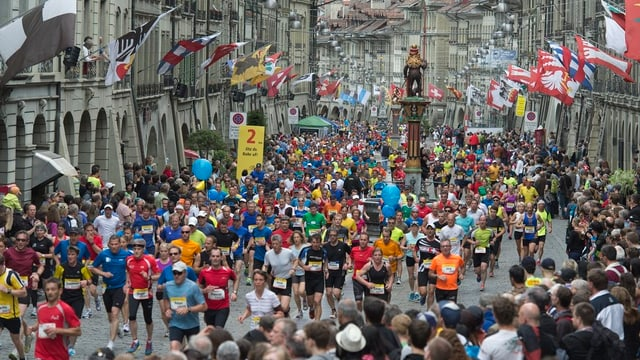 Läufer in der Stadt