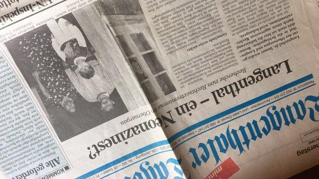 Zeitungsartikel über gewalttätige Übergriffe auf Tamilen