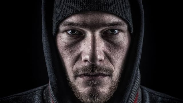Portrait eines Rappers