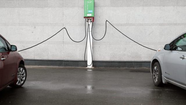 Elektro Autos am Strom.