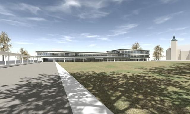 Visualisierung des geplanten Stadthauses