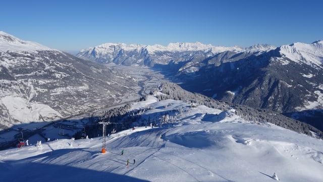 Im Skigebiet Brambrüesch