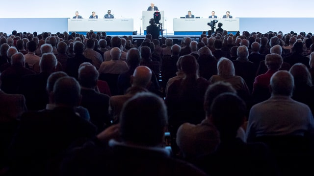 Generalversammlung der Credit Suisse.