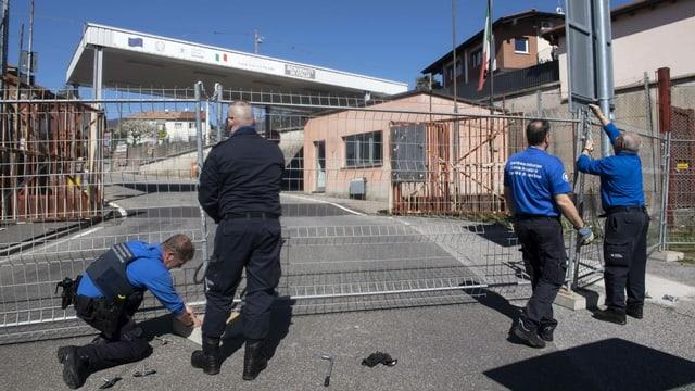 Neun Grenzübergänge geschlossen
