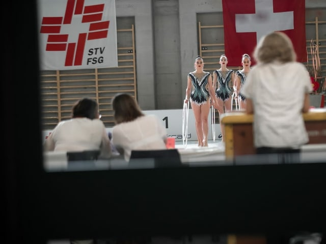 Die Rhythmischen Gymnastinnen.