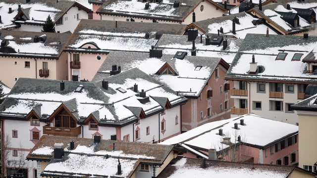 Häuser in Silvaplana