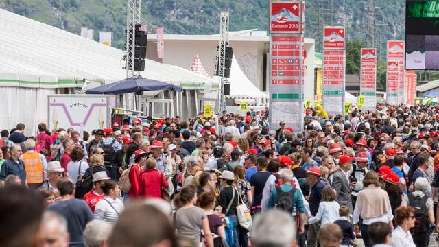 Rund 80'000 Personen wohnen Gotthard-Feierlichkeiten bei (Artikel enthält Video)