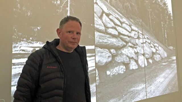 L'artist Pascal Lampert.
