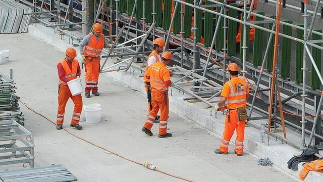 Arbeiter aufeiner Baustelle