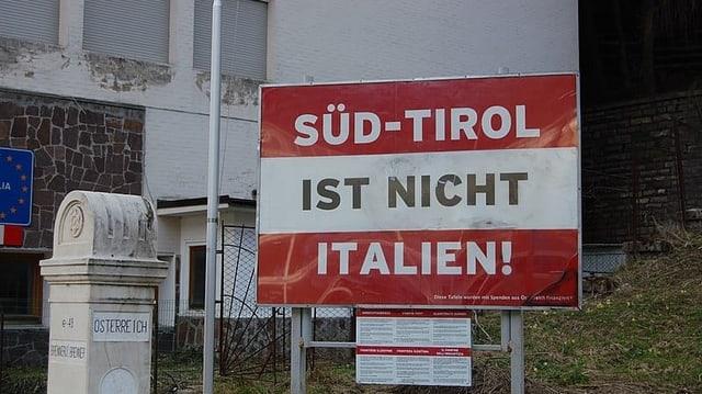Plakat «Süd-Tirol ist nicht Italien».