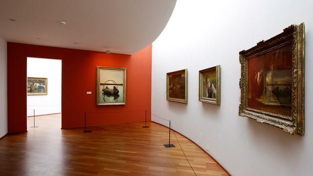 Maletgs pendì si en il Museum Segantini a San Murezzan.