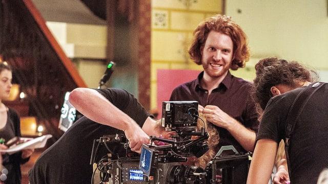 Regisseur David Oesch auf dem Set seines preisgekrönten Kurzfilms «Cru».
