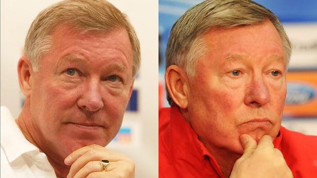Alex Ferguson 2002 (links) und 2011.