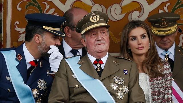 Kronprinz Felipe, König Juan Carlos, Kronprinzessin Letizia