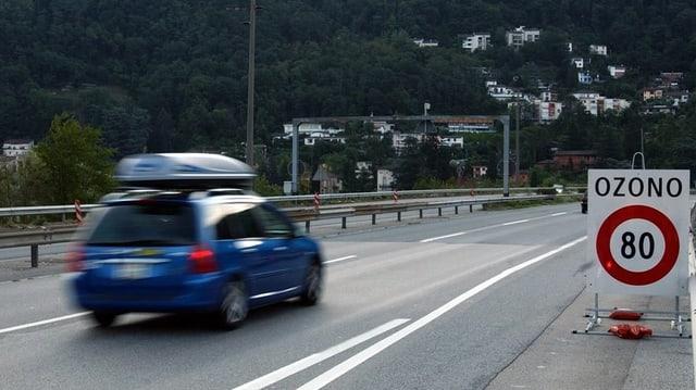 Limitaziun da sveltezza 80 sin autostrada