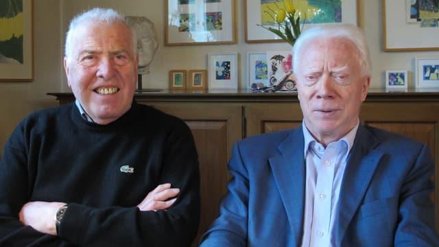 Alois Studer (links) und Peter Fischer sind die Hüslisänger.