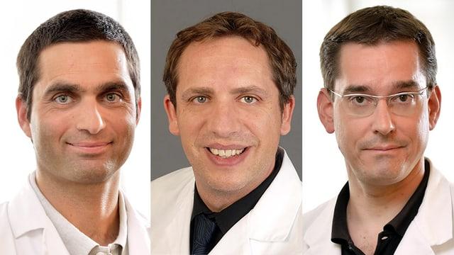 Dr. Stephan Bauer, Dr. Martin Baumgartner und Dr. Claudius Möckel
