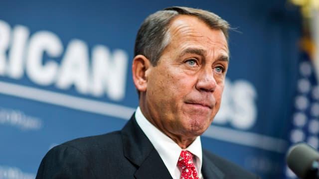 John Boehner in harten Budgetverhandlungen.