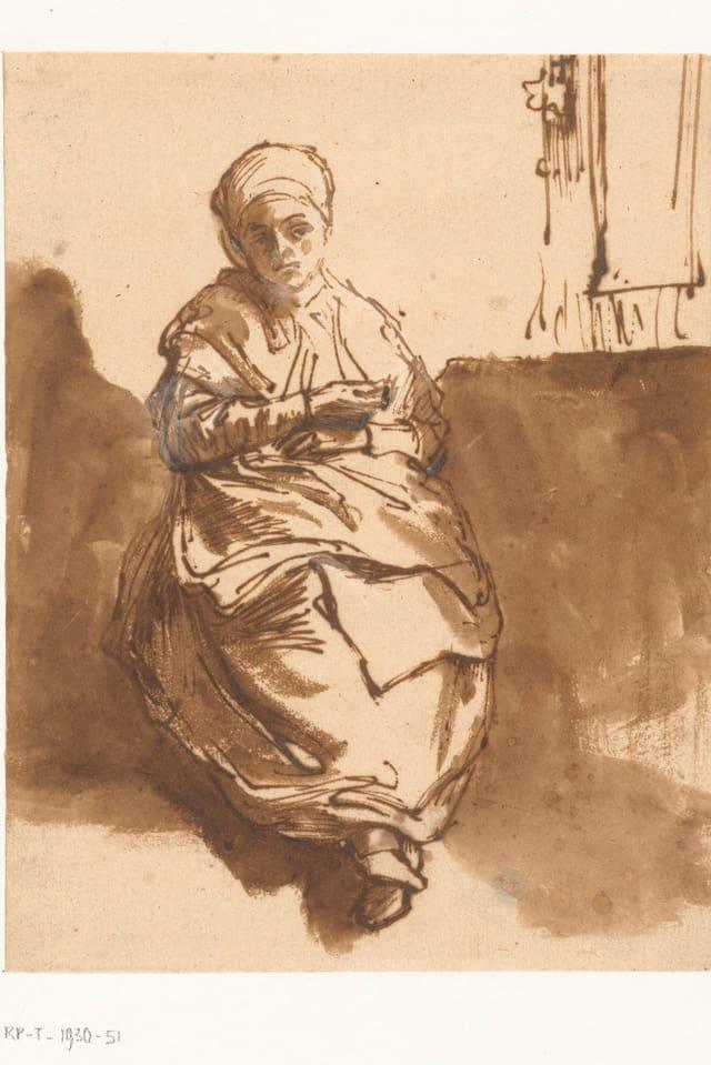 Zeichnung einer Frau