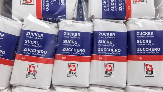 Schweizer Zucker Packungen
