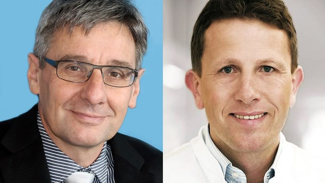 Prof. Hansjörg Danuser und PD Dr. André Reitz