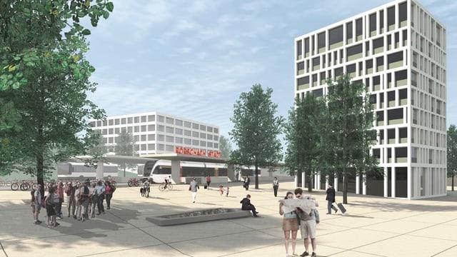 Visualisierung Stadtbahnhof