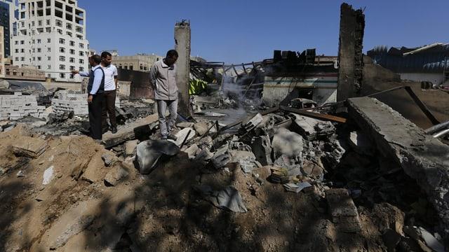 Eine zerstörte Stadt in Jemen