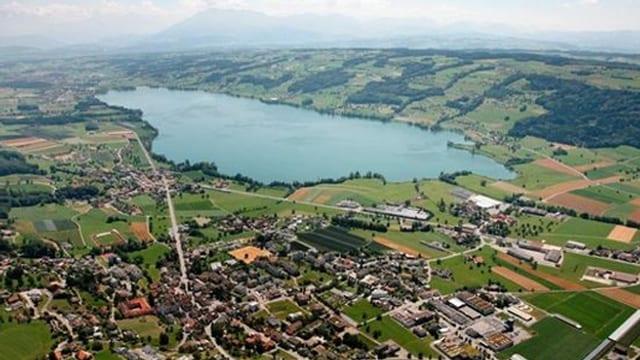 Luftbild von Hitzkirch