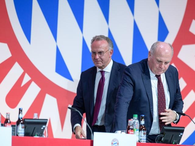 Uli Hoeness und Karl-Heinz Rummenigge.