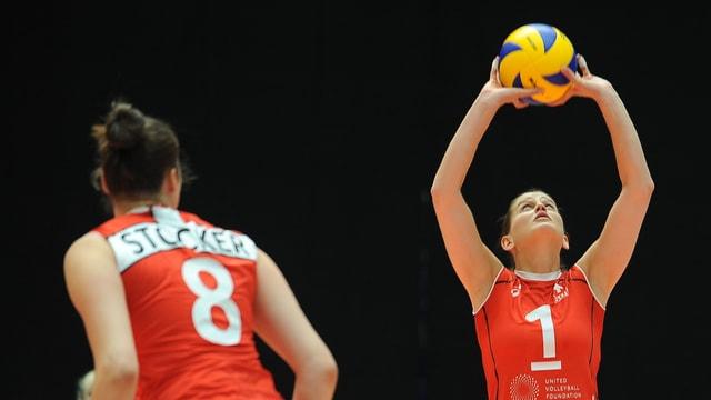 Kristel Marbach in Aktion.