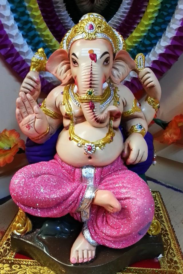 Statue von Ganesha.