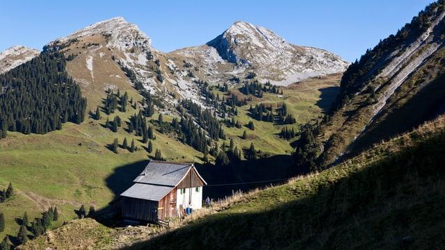 Ein Bauernhaus auf einer Schwyzer Alp.