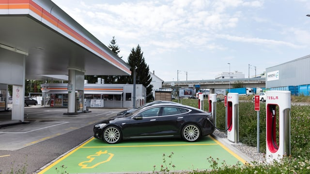 Das Elektroauto von Tesla.