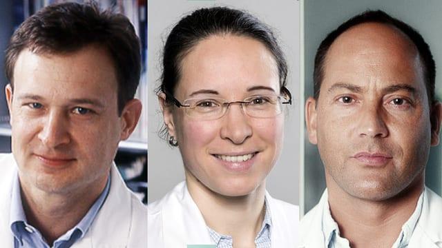 Dr. Heiner Brunnschweiler, Dr. Isabella Schröder und Dr. Niklaus Urscheler