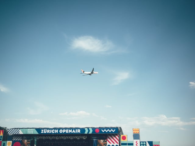 Zürich Openair: Flugzeuge gehören einfach dazu.