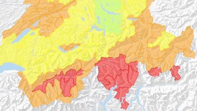 Survista dal privel d'incendis da guaud en Svizra.