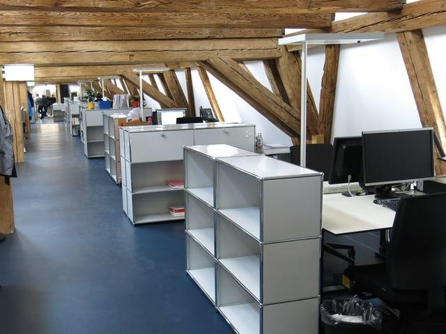 Zu sehen ist der Bürobereich.