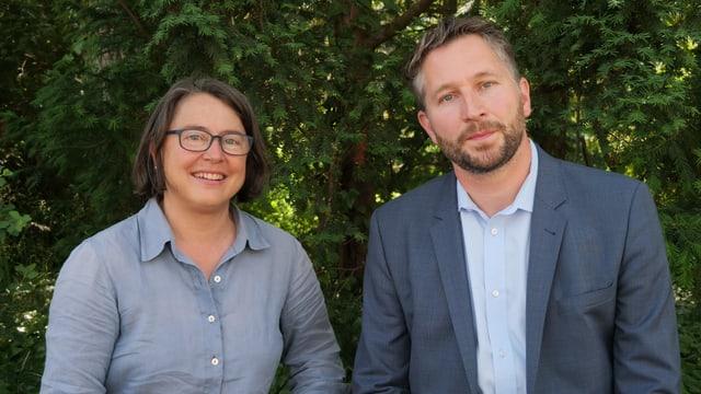Die beiden Kandidaten für den Sitz im Winterthurer Stadtrat, Annetta Steiner (links) und Kaspar Bopp (SP).