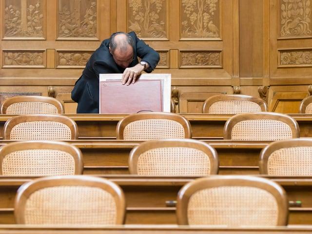 Guy Parmelin im Nationalratssaal.