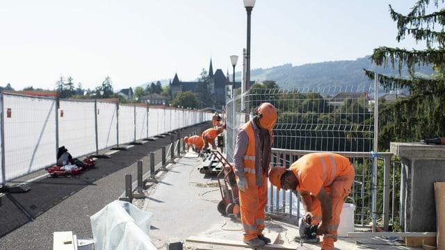 Baustelle in Bern.