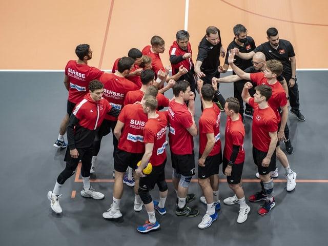 Die Schweizer Volleyballer.