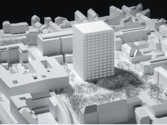 Ein Modell für den geplanten Life-Science-Campus Schällemätteli in Basel