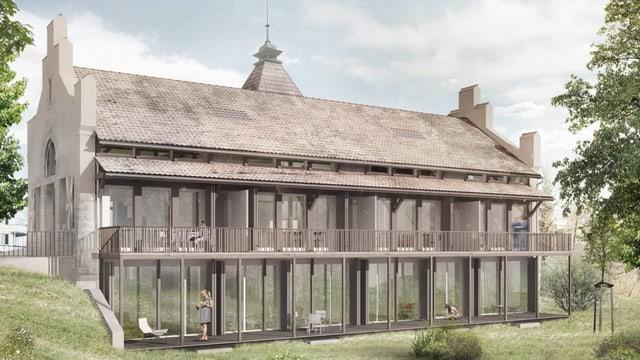 Visualisierung umgebautes Schützenhaus in Baden