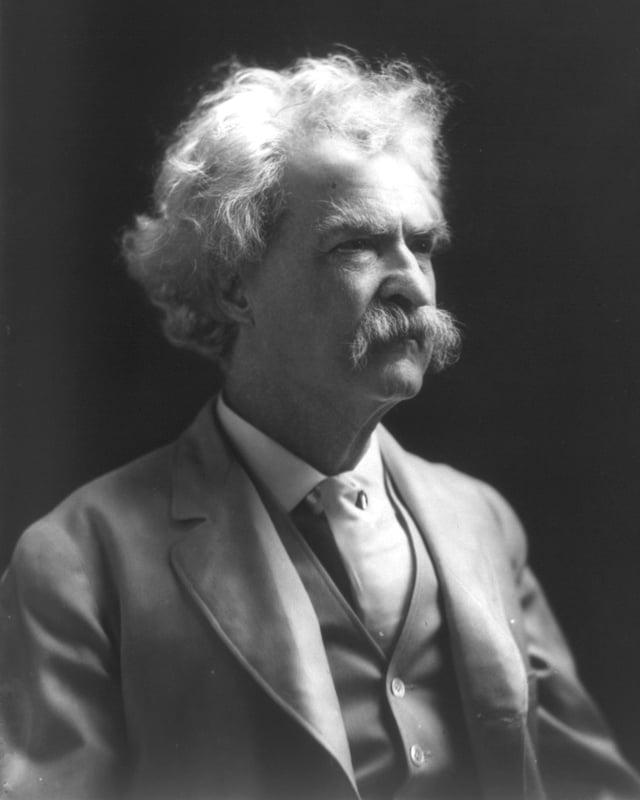 Portrait Mark Twain