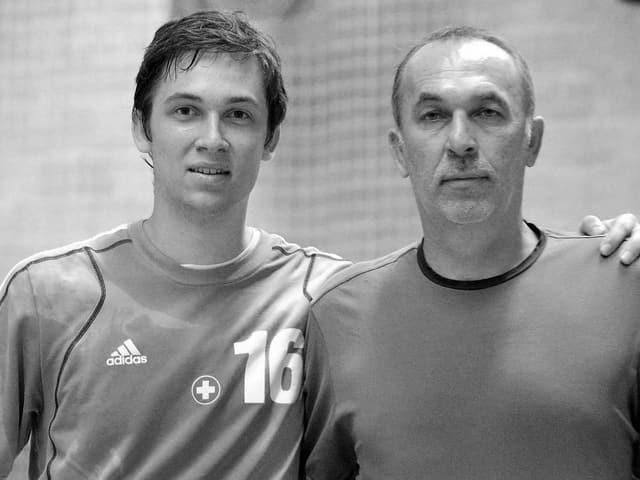 Nikola Portner (links) mit seinem Vater Zlatko.