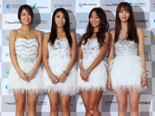 Die südkoreanische Musikgruppe Sista.